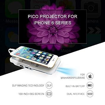Skyzonal DLP proyector LED Proyector único para iPhone 6/6S/6plus ...