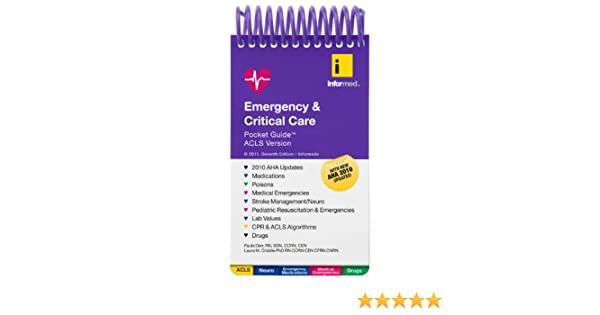 emergency amp critical care pocket guide acls version