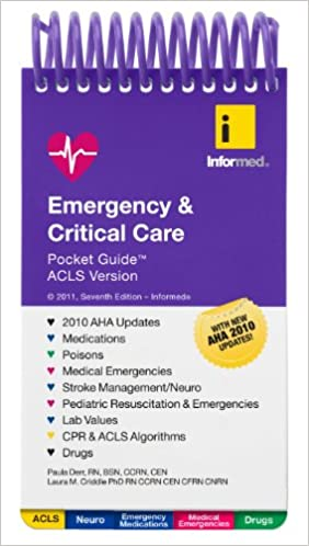 Emergency critical care pocket guide acls version 9781890495589 emergency critical care pocket guide acls version 9781890495589 medicine health science books amazon fandeluxe Choice Image