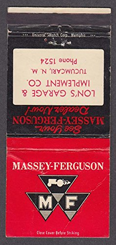 (Massey-Ferguson Tractors Lon's Garage & Implement Co Tucumcari NM atchcover)