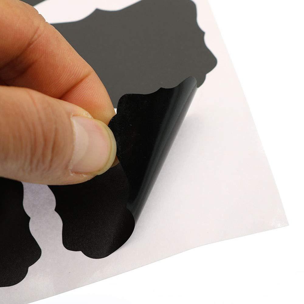 Jars et les /étag/ères de rangement Yizhet /Étiquette Tableau Noir /Étiquettes Bocaux 112 Pi/èces,14 Sheet Autocollants Premium durables r/éutilisables pour d/écorer votre bureau