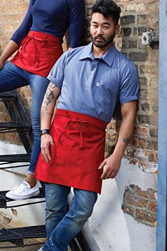 Uncommon Threads Unisex Waist Apron 22W X 18L, Red, One Size
