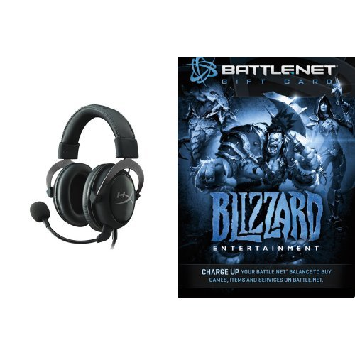 ($20 Battle.net Store Gift Card Balance - Blizzard Entertainment [Digital Code] and Headset Bundle)