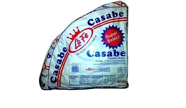 La Fe Casabe Dominicano Súper seleccionada tradicional pan de yuca Desde República Dominicana 11 Oz: Amazon.es: Alimentación y bebidas