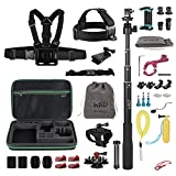 HSU Accessories Kit for GoPro Hero2018 HERO 5 4 3+ 3 2 1,Sports Camera Accessories Set for Xiaomi Yi, and Other Digital Cameras(47-in-1set)