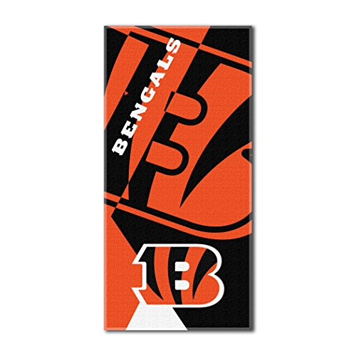 The Northwest Company Officially Licensed NFL Cincinnati Bengals Puzzle Beach Towel, 34