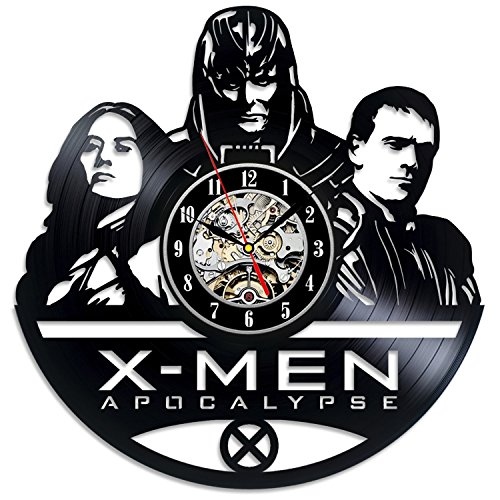X-Men Apocalypse Civil War Marvel Comics Vinyl Clock - Decorate your home with Modern Marvel Wall Art - Best gift for girl and boy, woman and men - Win a prize for feedback