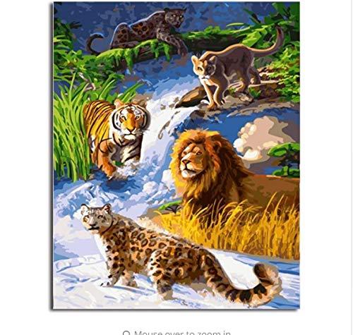 LIWEIXKY Bild Moderne Bilder Malen Nach Zahlen DIY Ölgemälde Auf Leinwand Home Decor Von Tier - Rahmenlos - 40x50cm B07PSBPB36 | Verschiedene Stile