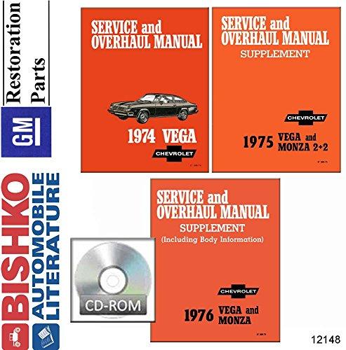 bishko automotive literature 1974 1975 1976 Chevrolet Vega/Monza Shop & Body Service Repair Manual CD OEM