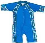 Baby Banz UV One Piece Swim Suit, Blue Graffitti, 2 Years