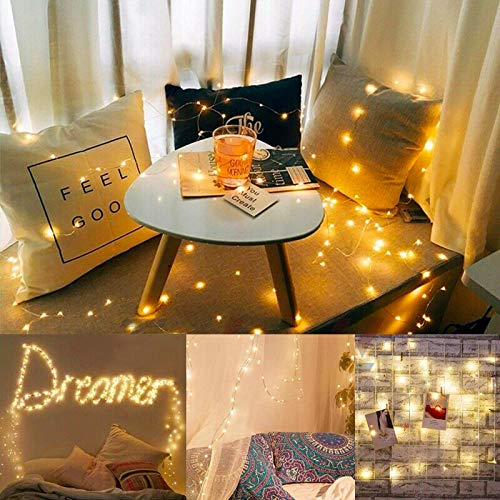 DeepDream 66ft 200 LEDs Fairy Light Battery Powered String Lights Copper Wire 8 Modes Twinkle, Remote Control with Timer… 5