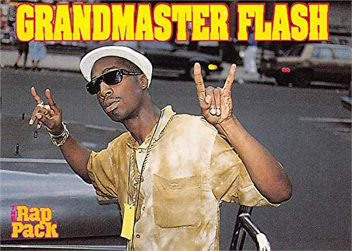 Grandmaster Flash trading card (Hip Hop, Rock and Roll Hall of Fame) 1991 Rap Pack #43