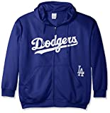 MLB Los Angeles Dodgers Men's Full Zip Poly Fleece with Wordmark Chest with Logo near Pocket, 3X, Royal