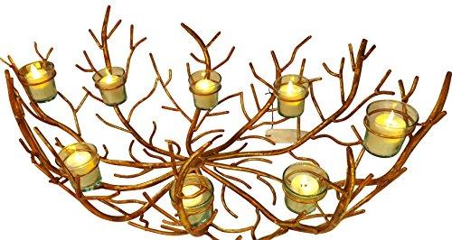 (Iron Gold Twig Candle Holder | Centerpiece Votive Branch)