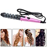 Ckeyin ® Pro Electric Ceramic Hair Curler Spiral Hair Rollers Curling Iron Wand Salon Hair Styling Tools Styler (Purple)