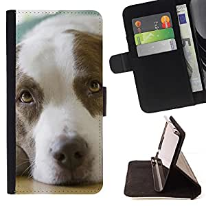 Momo Phone Case / Flip Funda de Cuero Case Cover - Puntero perro canina Animal Marrón; - LG G4c Curve H522Y (G4 MINI), NOT FOR LG G4