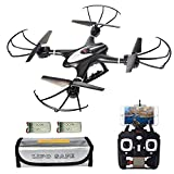 Cheap MJX X400W Upgraded Version, FPV RC Quadcopter Drone with WiFi Camera Live Video, Extra Battery and Lipo Safe Bag, Drones with Altitude Hold Headless Mode One Key Return (Black)
