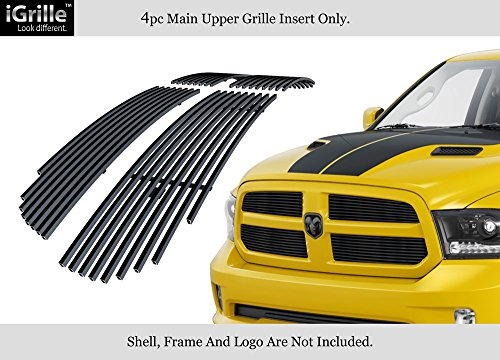 - APS Compatible with 2013-2018 Ram 1500 Upper Black Stainless Steel Billet Grille Insert D65919J