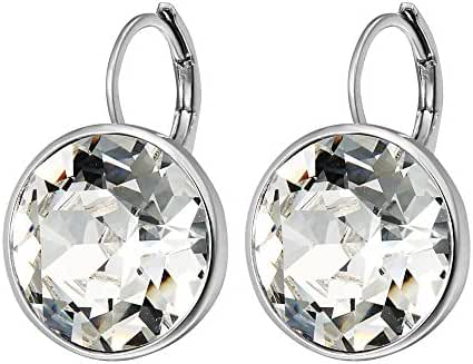 Xuping Charm Platinum Color Gold Hoop Earrings Crystals from Swarovski Women Jewelry Valentine's Day Gift