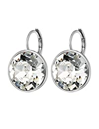 Xuping Sparkle Valentine's Day Gifts 2018 Hot Sale Luxury Platinum Color Plated Crystals from Swarovski Hoop Earrings Women Girl Lady Wedding Mother's Day Jewelry