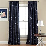 Lush Decor Star Room Darkening Window Panel, 52 by 84-Inch, Navy, Set of 2 Review