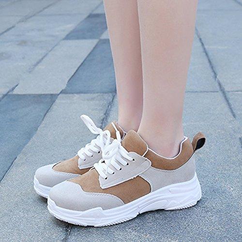 Zapatos Gruesa Viejos Blancos Deportes Zapatos Pequeños Los Mujer GAOLIM Gris 1 De Zapatos Zapatos Virtudes Xwfq7ZBx