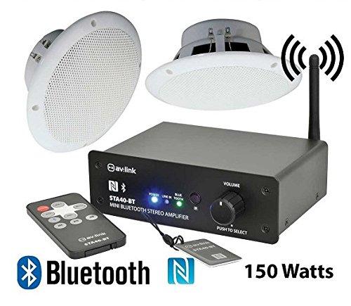 Bathroom Wireless Bluetooth Amplifier Water Resistant Ceiling Speakers 103 108 B