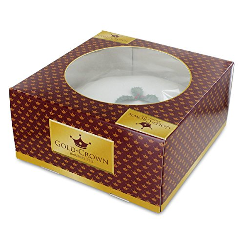 Christmas Cakes - Gold Crown Iced Christmas Cake - 24oz 681g