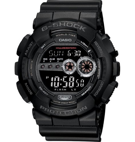 Casio Men's GD100-1BCR G-Shock X-Large Black Multi-Functional Digital Sport Watch ()