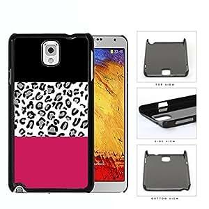 Gray Leopard Print Magenta Block Hard Plastic Snap On Cell Phone Case Samsung Galaxy Note 3 III N9000 N9002 N9005