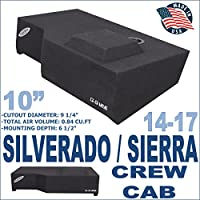 14-16 Chevy Silverado GMC Sierra Crew Cab Truck 10 Subwoofer Box Enclosure