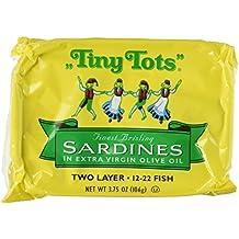 "King Oscar ""Tiny Tots"" Finest Brisling Sardines in Extra Virgin Olive Oil (3 Tins)"