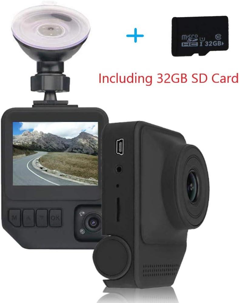 Car Dash Cam Two Cameras-Amacam AM-C19 + 32GB SD Card Night Vision 1080P Superior Dual Lens External Video Vehicle Recorder & Internal Cabin Recorder Car & Taxi Black Box Security Dashcam