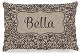 Kess InHouse KESS Original ''Bella'' Damask Name Fleece Dog Bed, 30 by 40-Inch, Brown/Tan