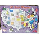 50 State Fridge Magnet set + W.Dc Magnets Free (All 50 US STATE REFRIGERATOR MAGNETS COLLECTIBLE) Bigger and Better Quality