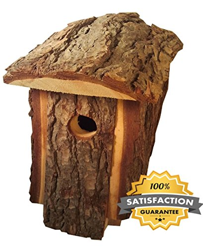 Best Wooden Birdhouse, Durable, Outside Decorative House for Birds Made By Amish Artists, Traditional Natural Looking Pine To Attract Birds, Very Unique Bird House, Handmade Wooden Design Bird Houses by Amish Artists