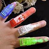 10x LED Fingerlampe Mitbringsel Fingerring Leuchtringe Fingerlicht Laser Ring Taschenlampe für Finger als Mitgebsel Gastgeschenke Kindergeburtstag Giveaways Jungen & Mädchen