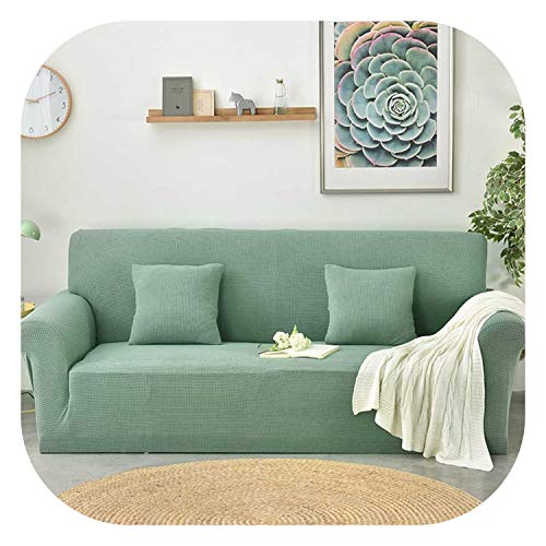 Sexy Stores Polar Fleece Slipcover Sofa Solid Color Couch Cover Elastic Full Sofa Cover 1/2/3/4 Seater Stretch Pillow Case Chair Covers,Pine Green,L(190-230MM)