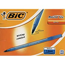BIC–Bolígrafo,: Round Stic Azul