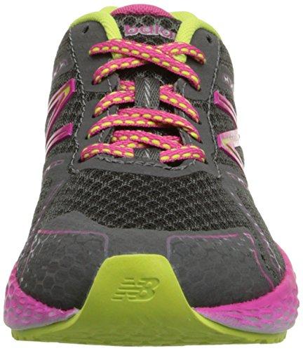 888098070194 - New Balance KJ980 Fresh Foam Running Shoe (Little Kid/Big Kid), Grey/Pink, 4 M US Big Kid carousel main 3