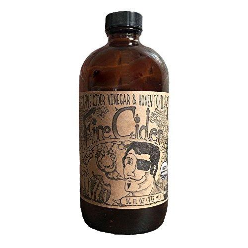 Fire Cider | Apple Cider Vinegar and Honey Tonic | Original | 16 oz (Apple 8 Cider Oz)