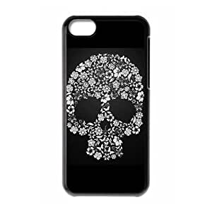 LZHCASE Diy Hard Shell Case Skull For Iphone 5C [Pattern-1]
