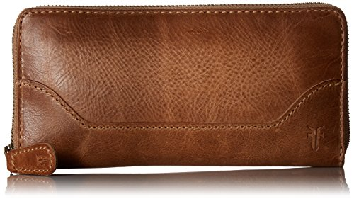 - FRYE Women's Melissa Zip Wallet, beige, One Size