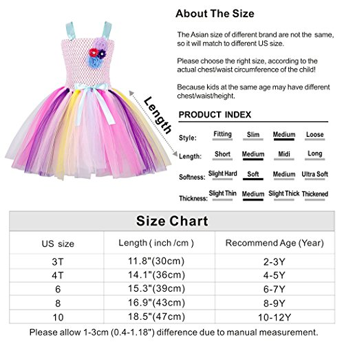 6ea9e85739a9 Cotrio-Rainbow-Unicorn-Tutu-Dress-Girls-Princess-Halloween-Costumes-Outfits -with-Headband
