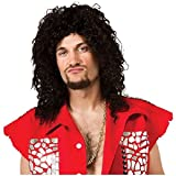 Sky Blu Wig LMFAO Adult Teen Rave Hip Hop Pop Star Curly Black Costume Accessory