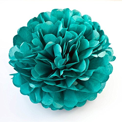 X-Sunshine 5pcs 8inch 10inch DIY Tissue Paper Flower Balls Outdoor Decoration Baby Girl's Room Craft Paper Pom Poms Hanging Flower For Party Wedding Christmas Birthday (5, -