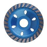 "Homyl 80mm 100mm 3"" 4"" Diamond Grinding Cup Wheel Stone Bricks Concrete Sanding Disc Grinder Granite Stone Tool - Blue 100mm"