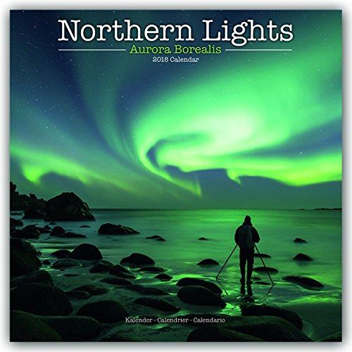 Northern Lights Calendar - Aurora Borealis Calendar - Calendars 2017 - 2018 Wall Calendars - Photo Calendar - Northern Lights 16 Month Wall Calendar by Avonside