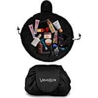 Lazy Drawstring Make up Bag Portable Large Travel Cosmetic Bag Pouch Travel Makeup Pouch Storage Organiser for Women Girl