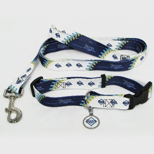 Hunter Tampa Bay Rays Pet Collar, Lead and ID Tag Combo Set, X-Small